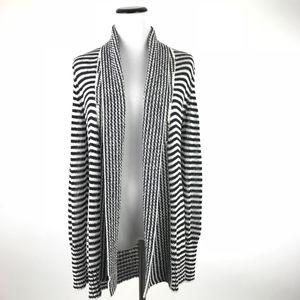 WHBM Striped Stretch Knit Cardigan Sweater #503